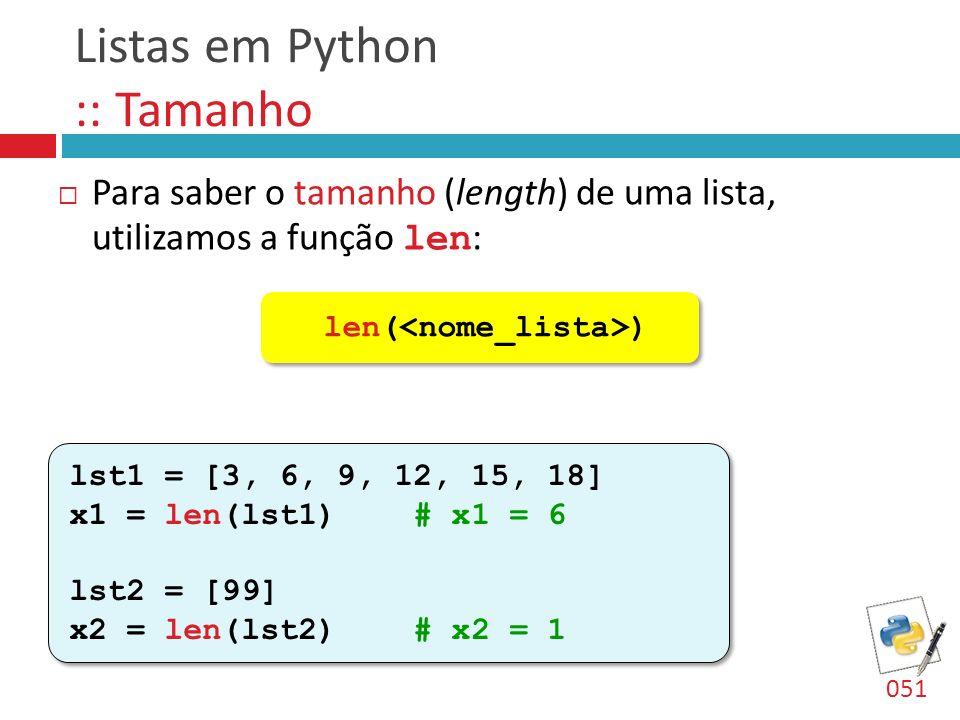 Listas em Python :: Tamanho
