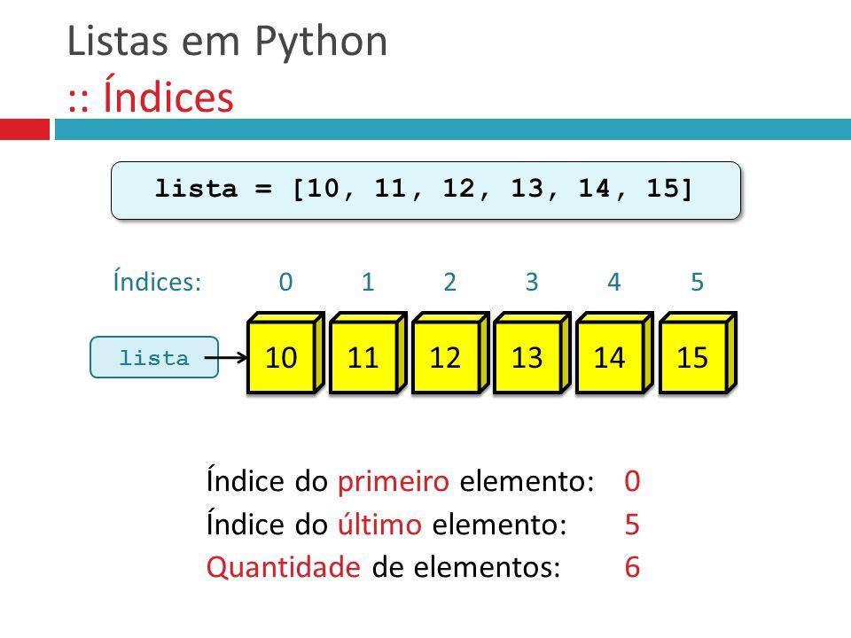 Listas em Python :: Índices