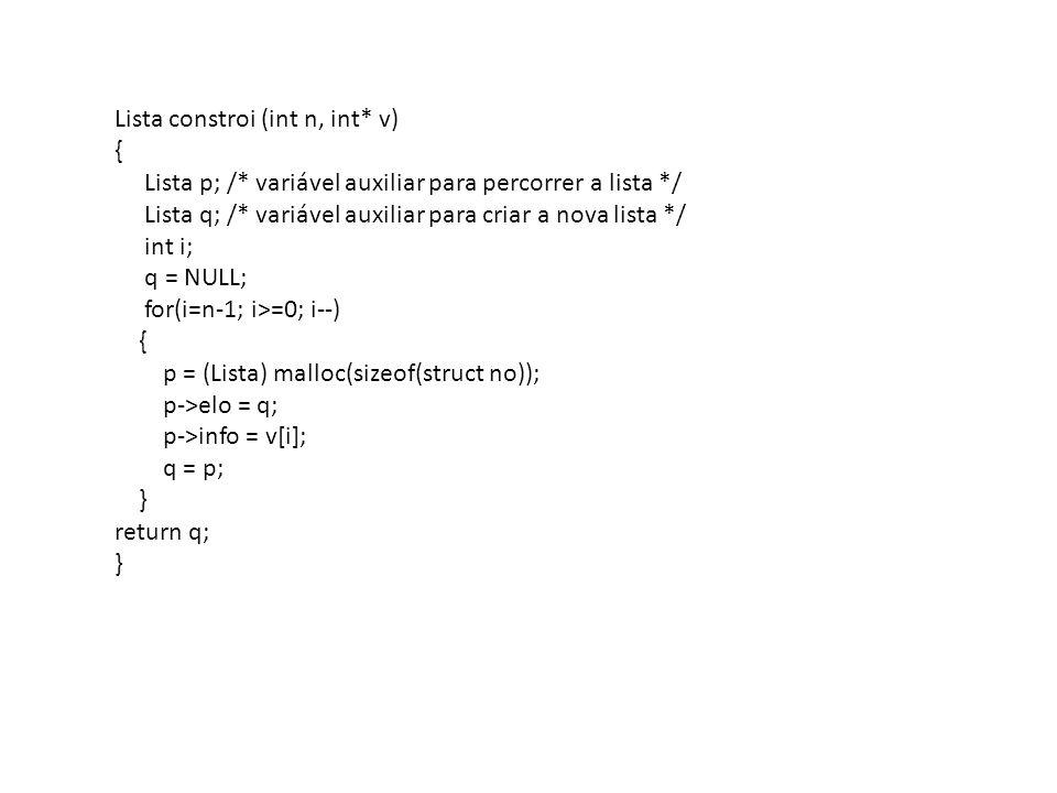 Lista constroi (int n, int* v)