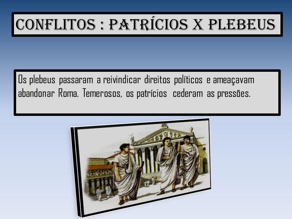 Conflitos : Patrícios x Plebeus