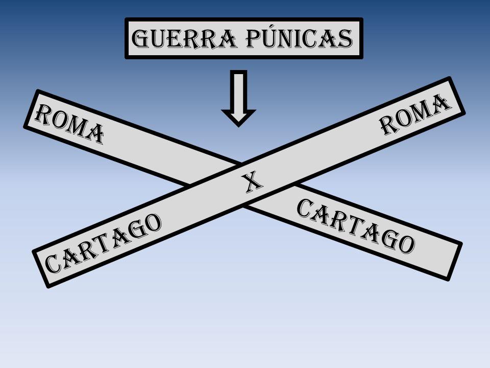 Guerra Púnicas Roma x Cartago Cartago X Roma