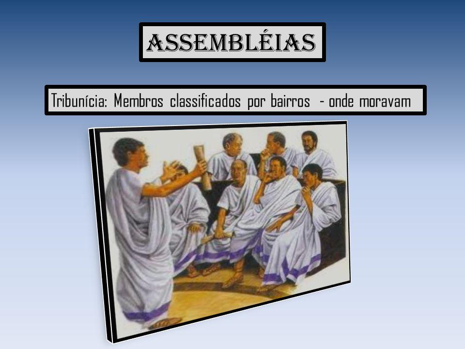 Assembléias Tribunícia: Membros classificados por bairros - onde moravam