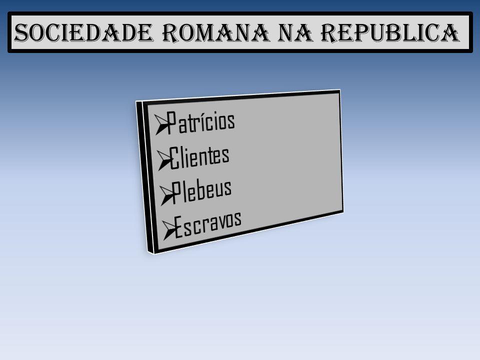 Sociedade Romana na Republica