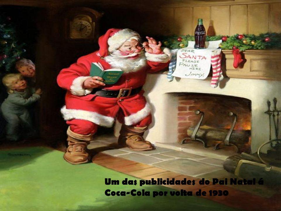 Um das publicidades do Pai Natal á Coca-Cola por volta de 1930