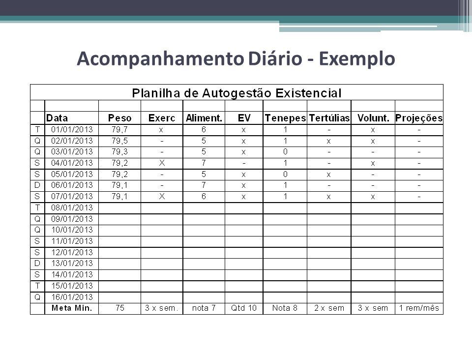 Acompanhamento Diário - Exemplo