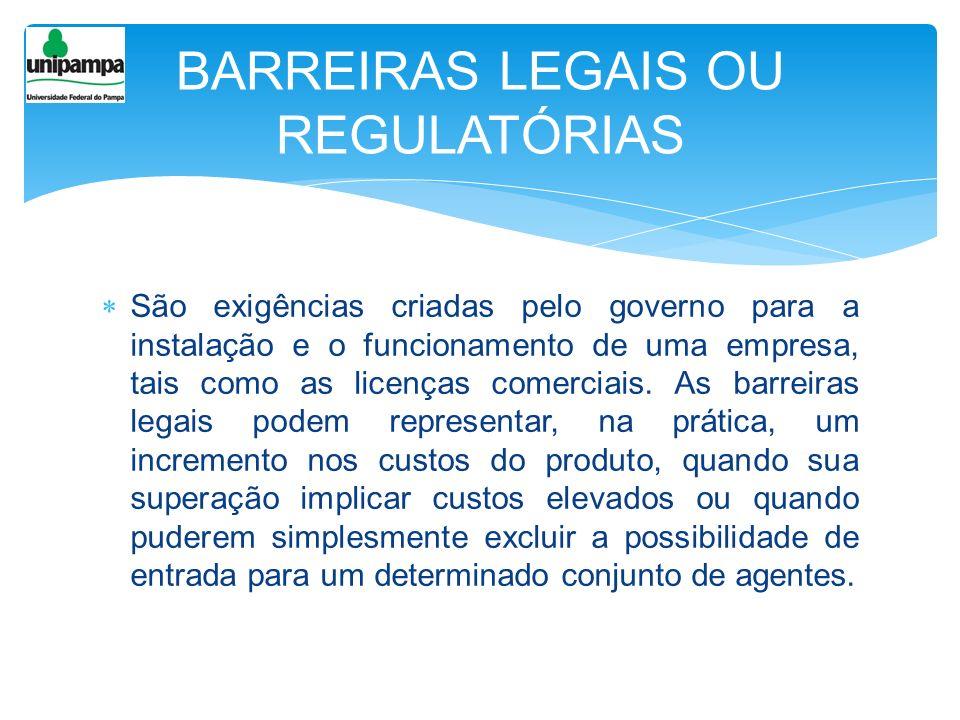 BARREIRAS LEGAIS OU REGULATÓRIAS
