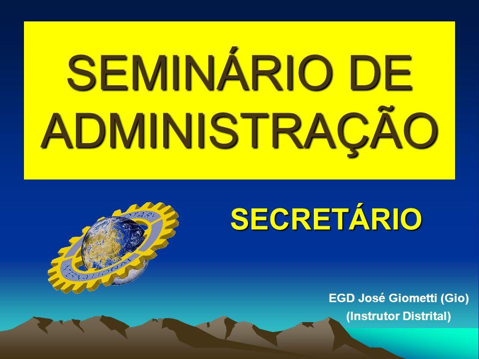 SEMINÁRIO DE ADMINISTRAÇÃO
