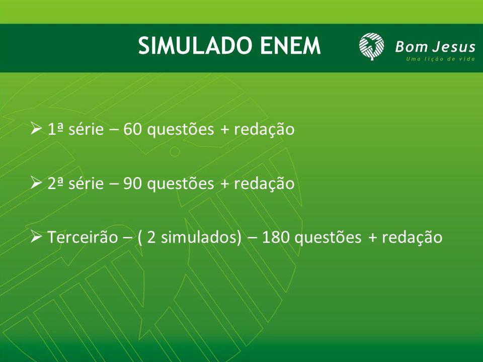 SIMULADO ENEM 1ª série – 60 questões + redação