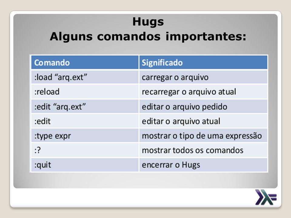 Hugs Alguns comandos importantes:
