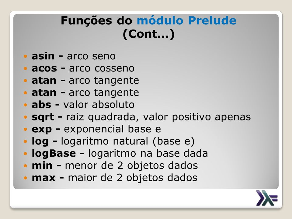 Funções do módulo Prelude