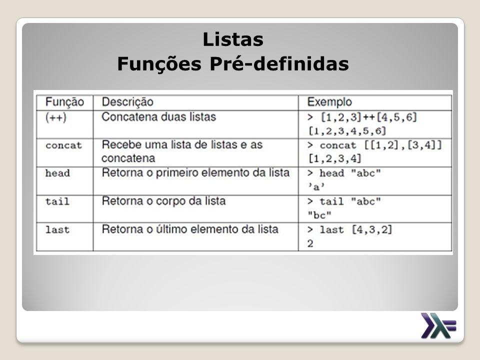 Listas Funções Pré-definidas