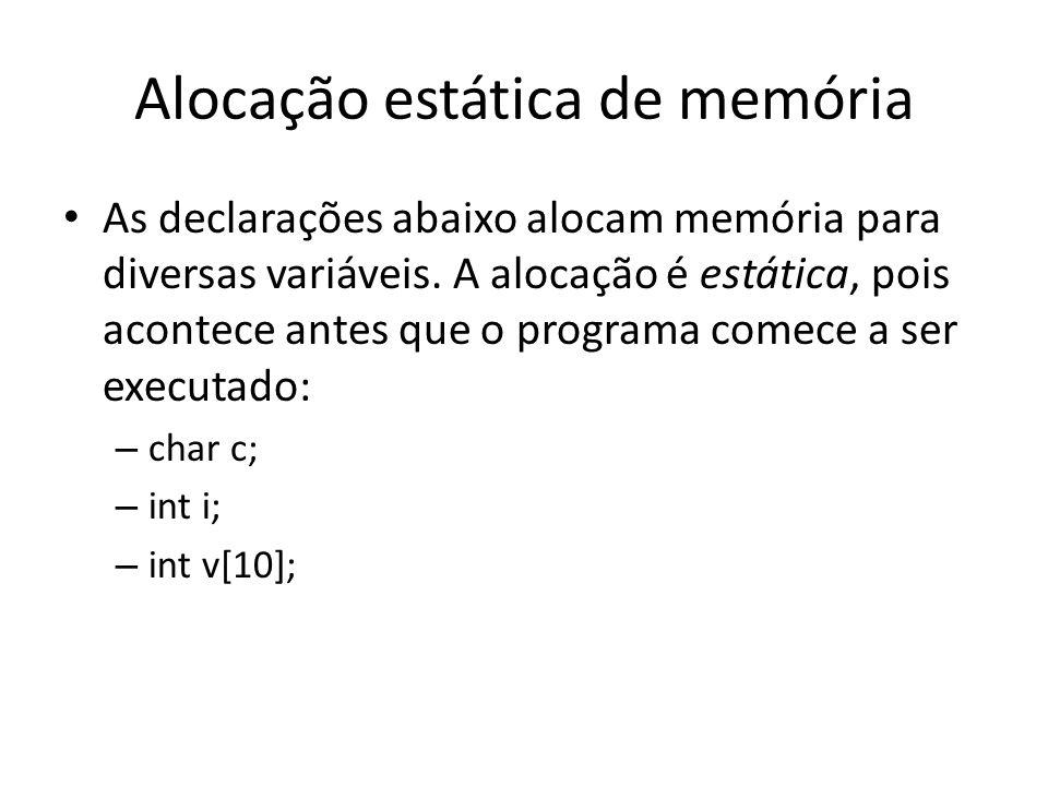 Alocação estática de memória
