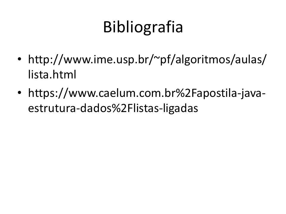 Bibliografia http://www.ime.usp.br/~pf/algoritmos/aulas/lista.html