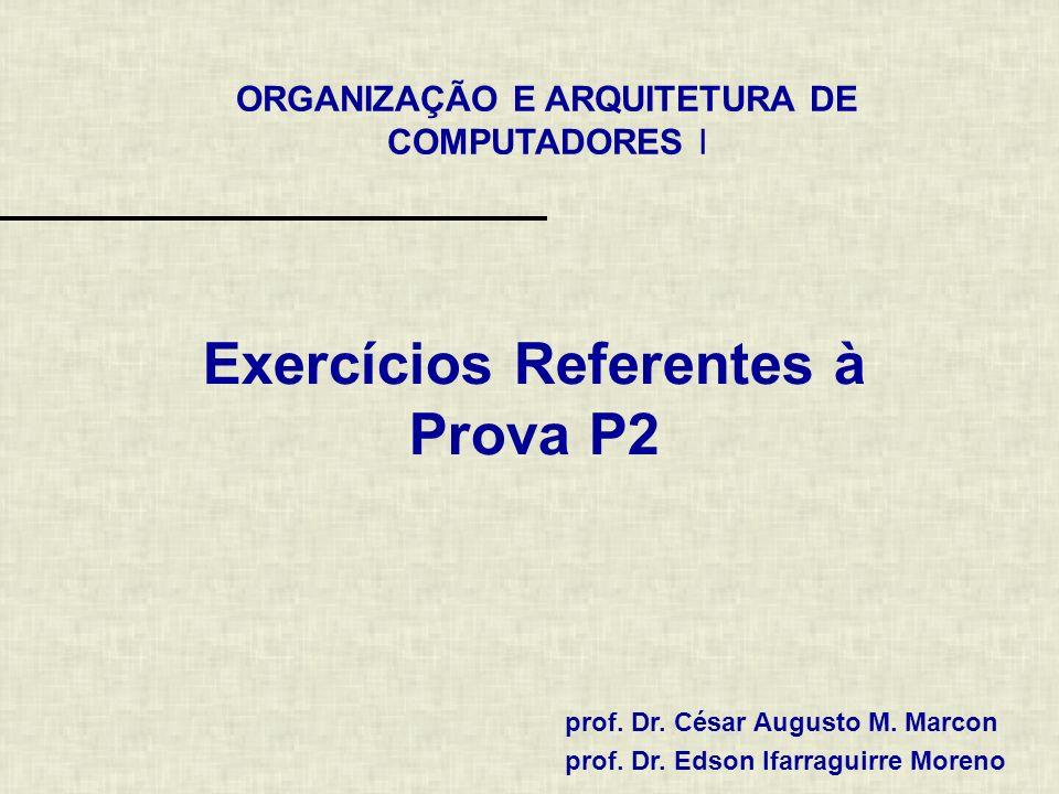 Exercícios Referentes à Prova P2