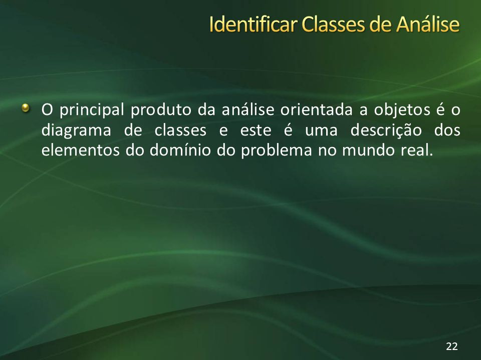 Identificar Classes de Análise
