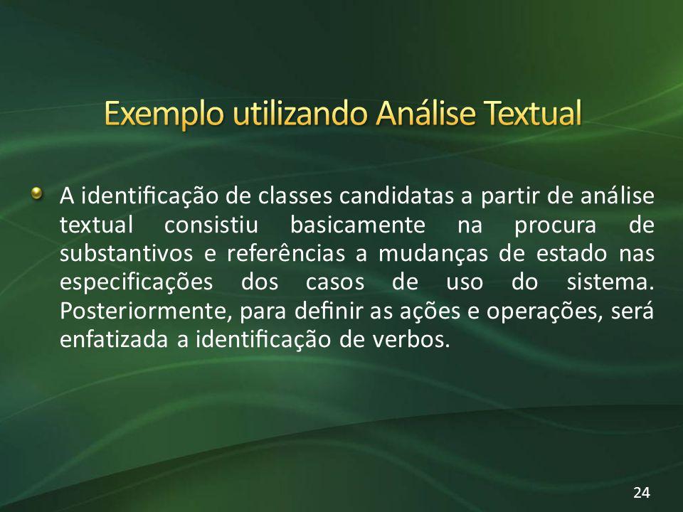 Exemplo utilizando Análise Textual