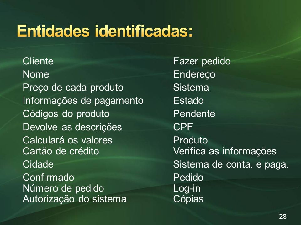 Entidades identificadas: