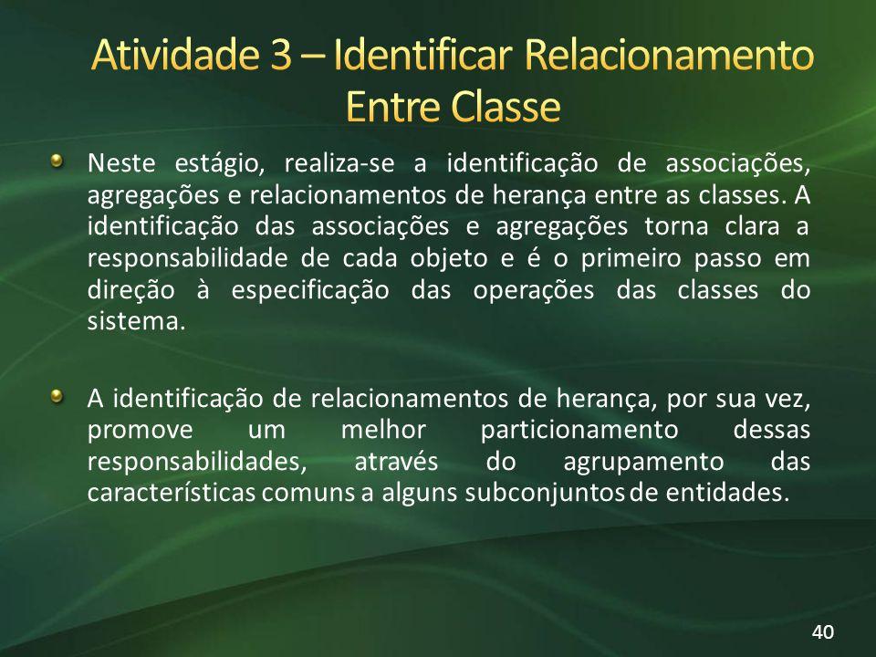 Atividade 3 – Identificar Relacionamento Entre Classe