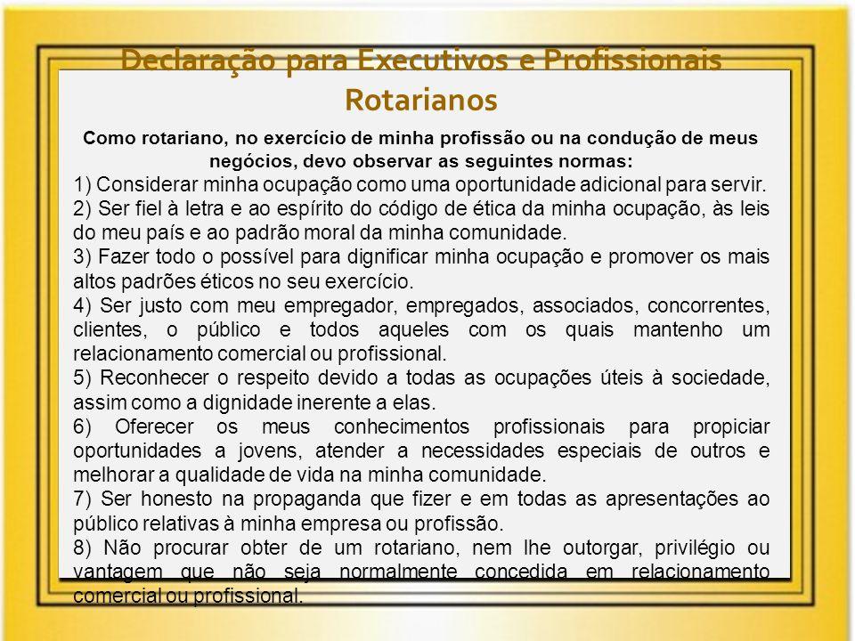Declaração para Executivos e Profissionais Rotarianos