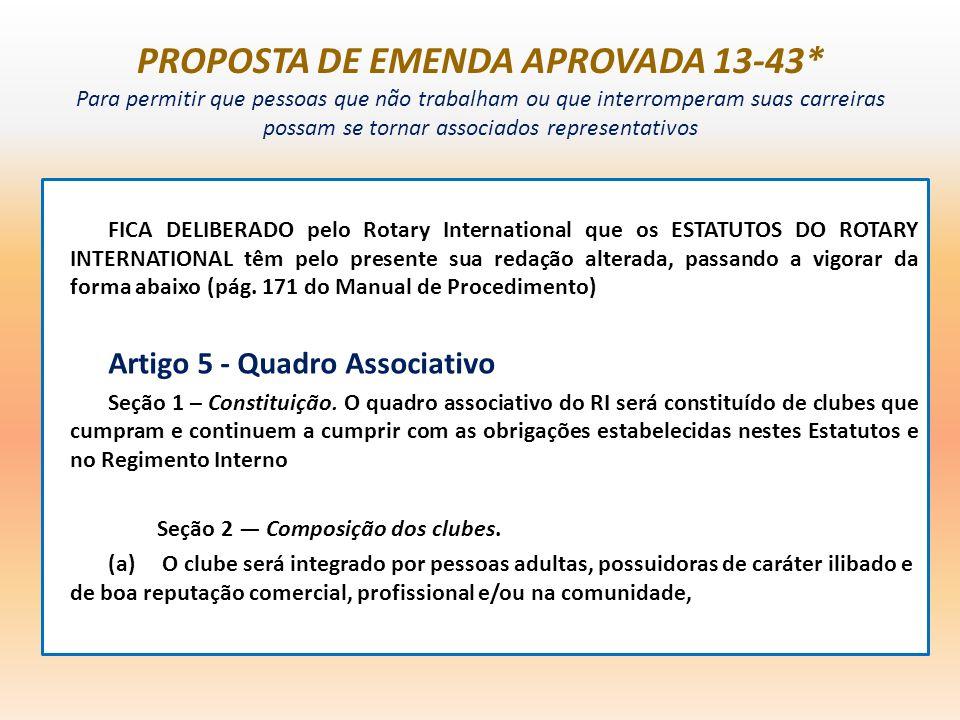 PROPOSTA DE EMENDA APROVADA 13-43