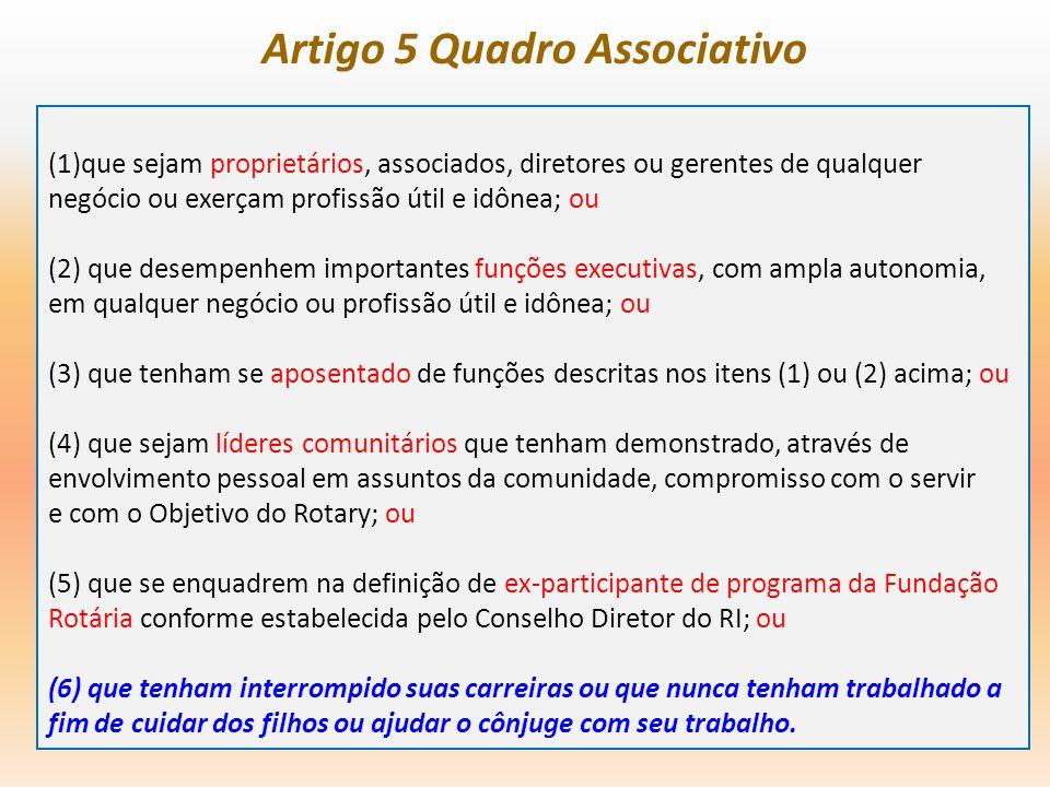 Artigo 5 Quadro Associativo