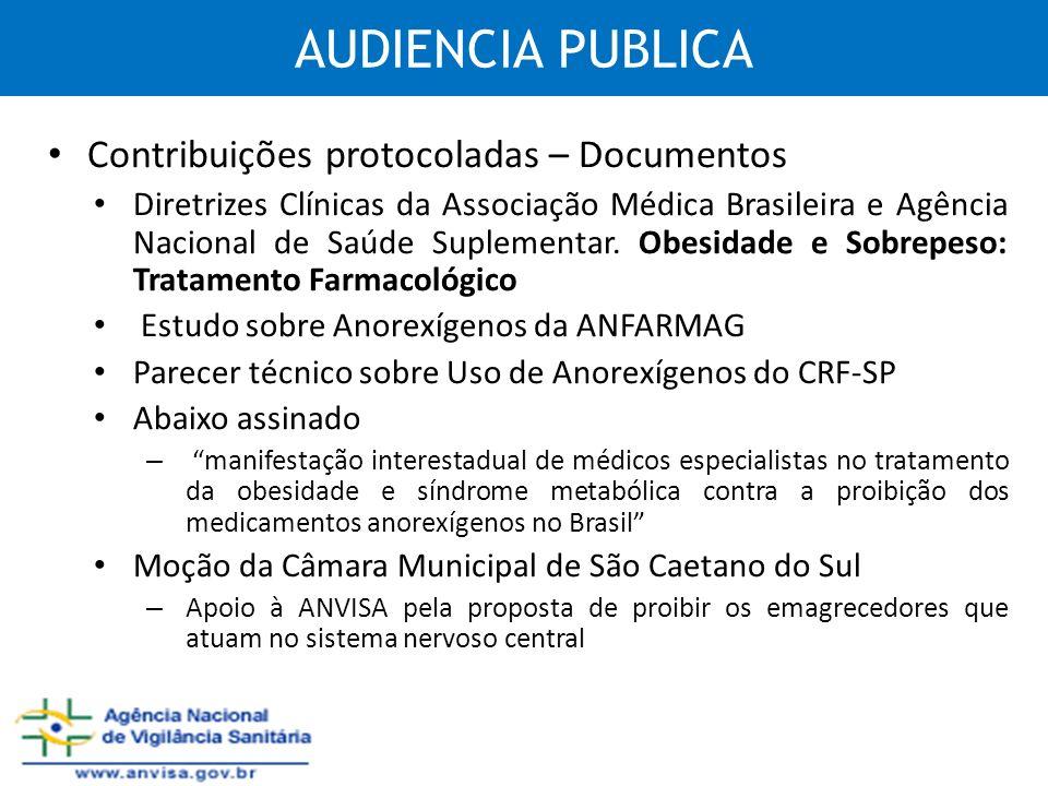 AUDIENCIA PUBLICA Contribuições protocoladas – Documentos