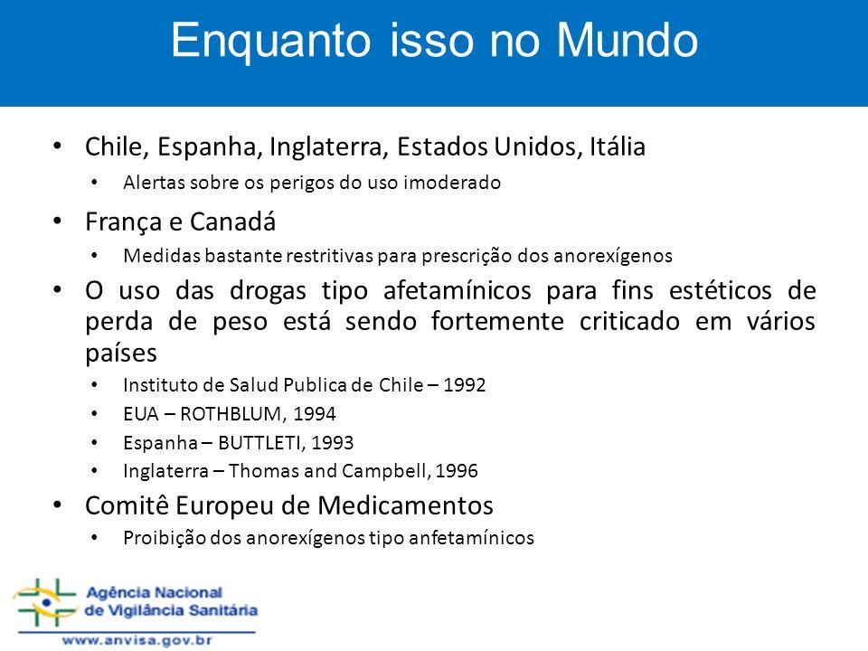 Enquanto isso no Mundo Chile, Espanha, Inglaterra, Estados Unidos, Itália. Alertas sobre os perigos do uso imoderado.