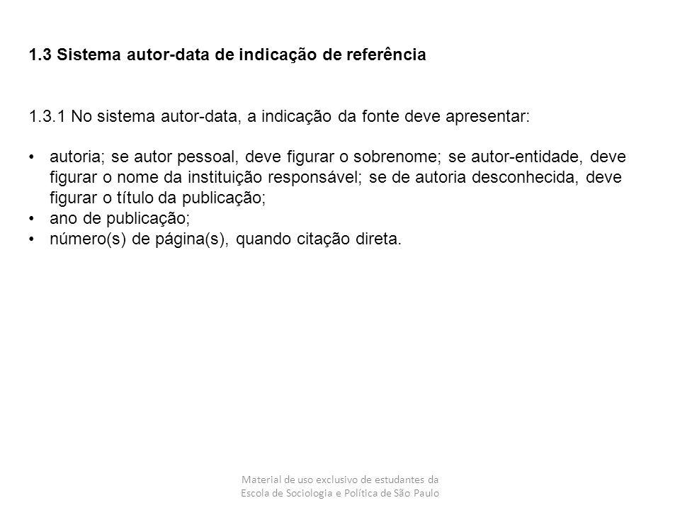 1.3 Sistema autor-data de indicação de referência