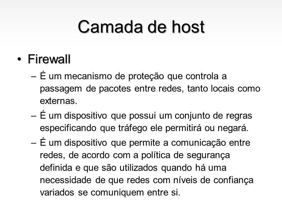 Camada de host Firewall