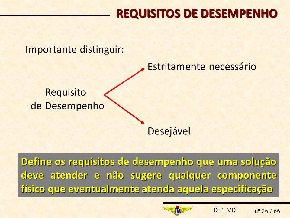 REQUISITOS DE DESEMPENHO