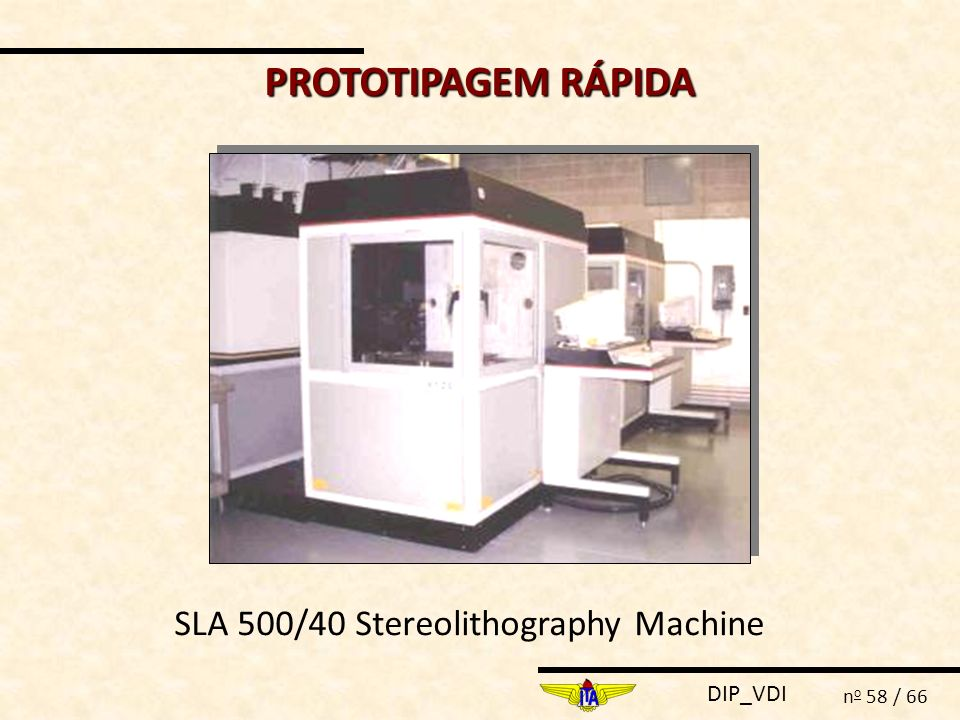 PROTOTIPAGEM RÁPIDA SLA 500/40 Stereolithography Machine