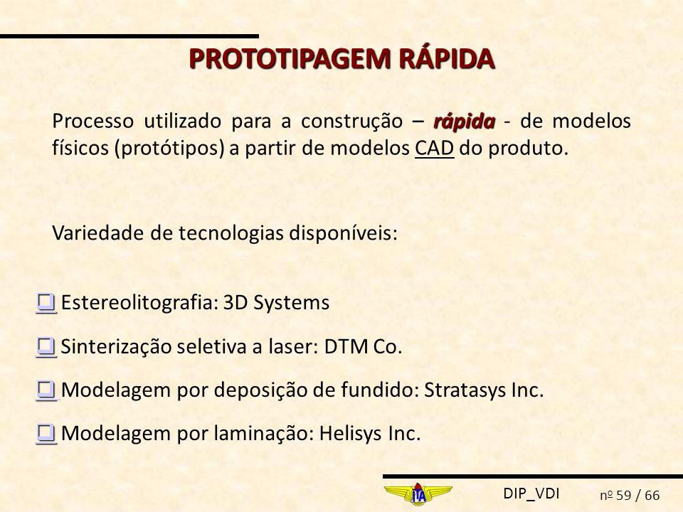 PROTOTIPAGEM RÁPIDA Processo utilizado para a construção – rápida - de modelos físicos (protótipos) a partir de modelos CAD do produto.