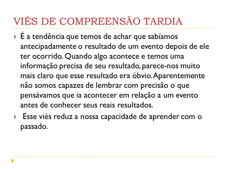 VIÉS DE COMPREENSÃO TARDIA