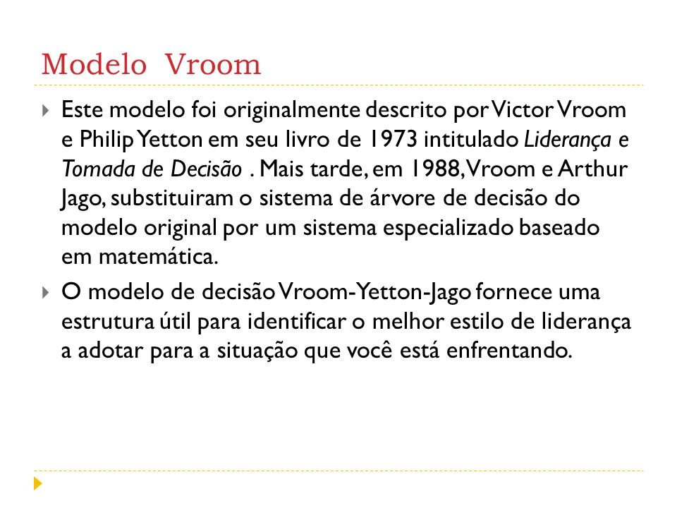 Modelo Vroom