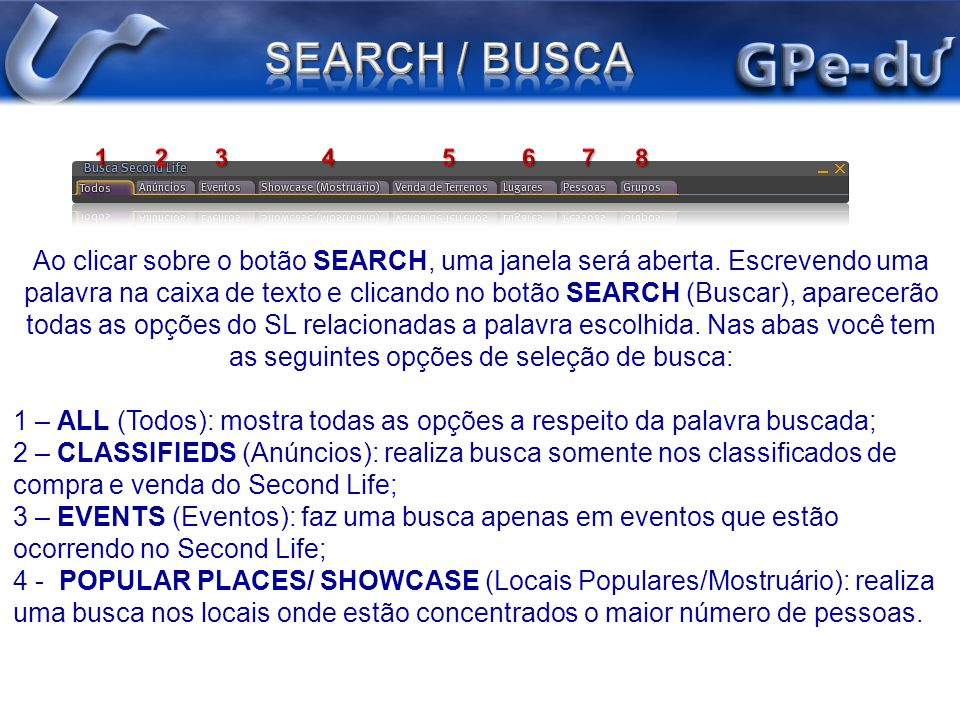 SEARCH / BUSCA 1 2 3 4 5 6 7 8.