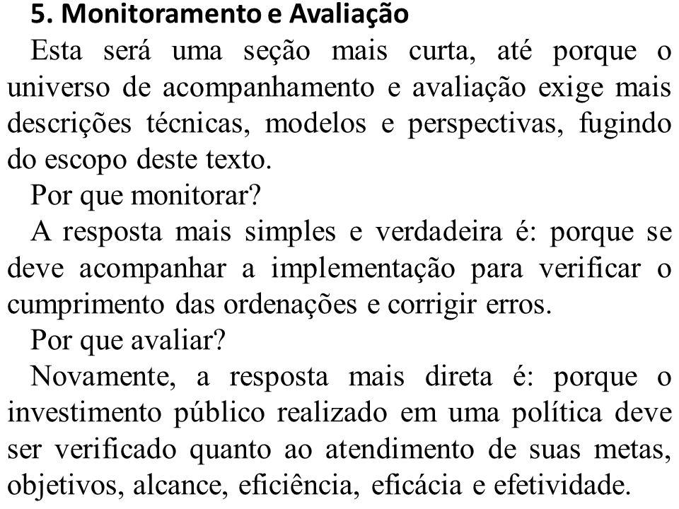 5. Monitoramento e Avaliação