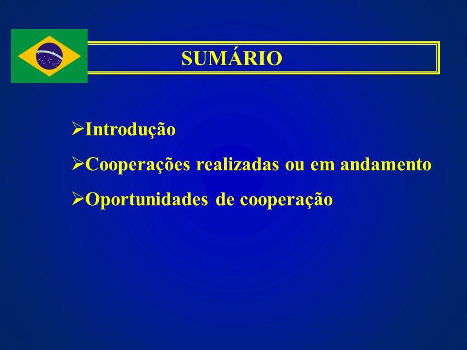 SUMÁRIO Introdução Cooperações realizadas ou em andamento