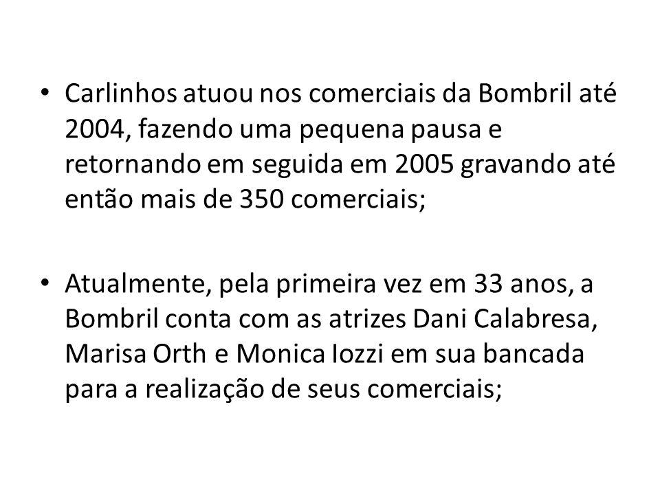 Carlinhos atuou nos comerciais da Bombril até 2004, fazendo uma pequena pausa e retornando em seguida em 2005 gravando até então mais de 350 comerciais;
