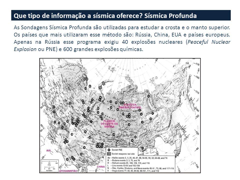 Que tipo de informação a sísmica oferece Sísmica Profunda