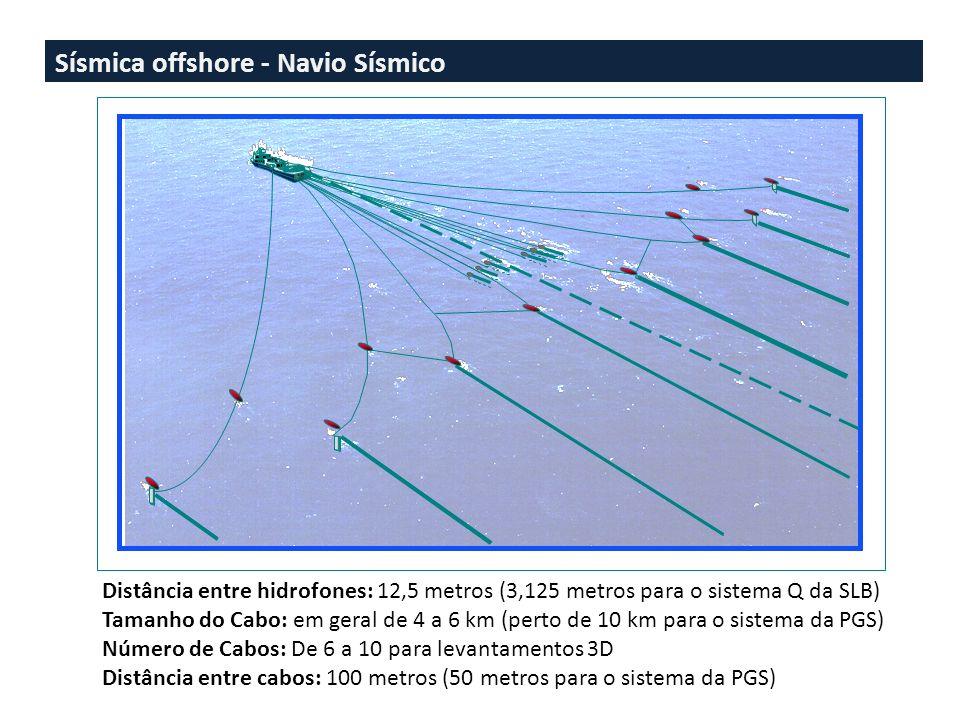 Sísmica offshore - Navio Sísmico
