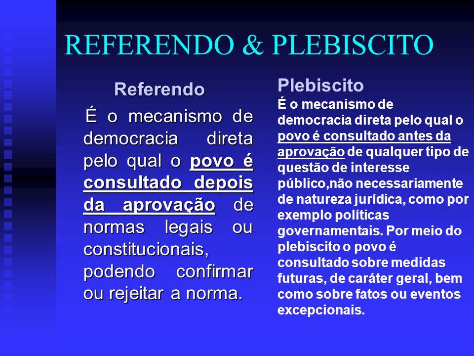 REFERENDO & PLEBISCITO