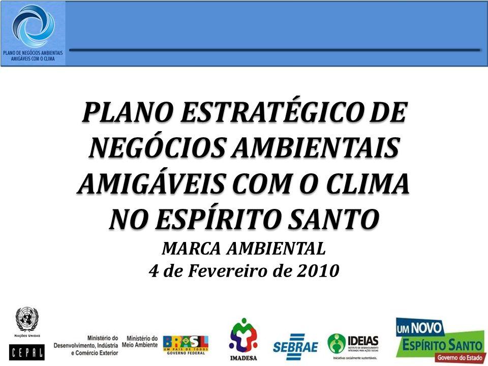 PLANO ESTRATÉGICO DE NEGÓCIOS AMBIENTAIS AMIGÁVEIS COM O CLIMA NO ESPÍRITO SANTO