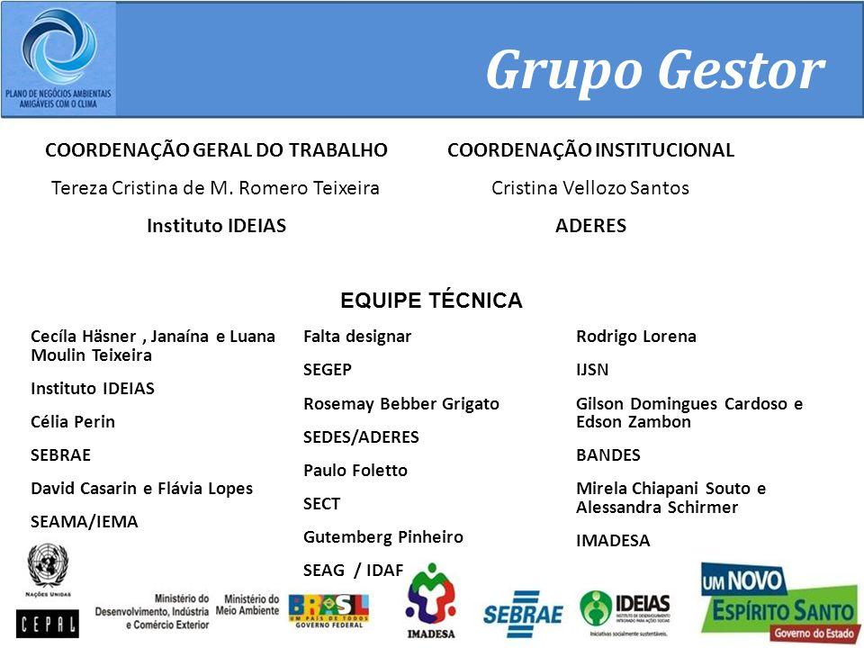 COORDENAÇÃO GERAL DO TRABALHO COORDENAÇÃO INSTITUCIONAL