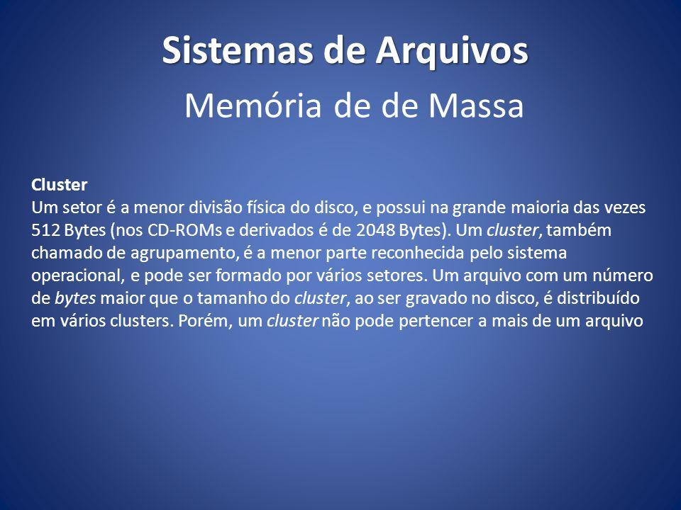 Sistemas de Arquivos Memória de de Massa Cluster