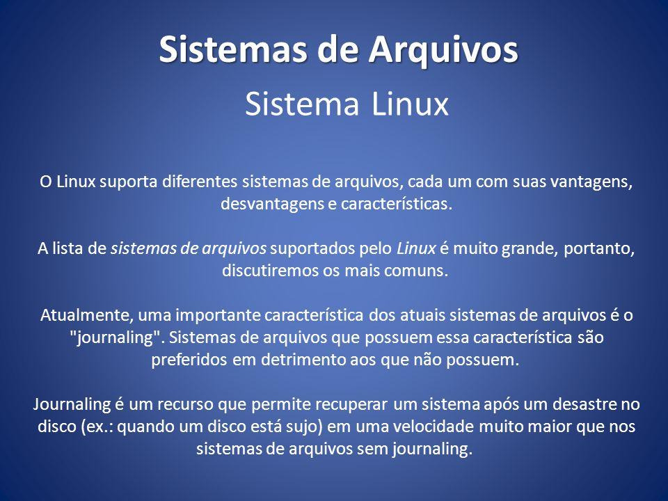 Sistemas de Arquivos Sistema Linux