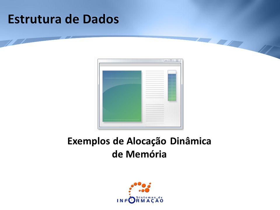 Exemplos de Alocação Dinâmica de Memória