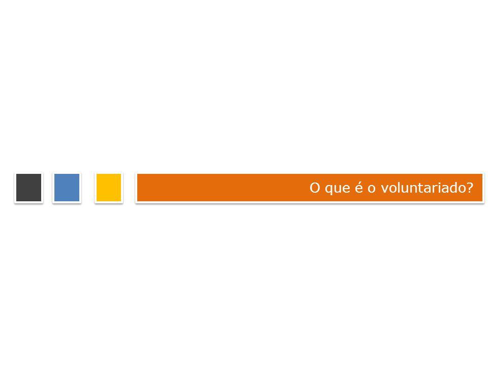 O que é o voluntariado