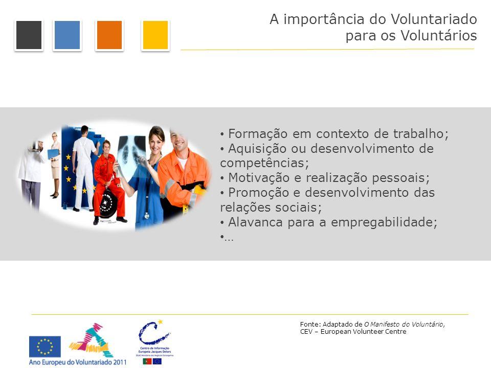 A importância do Voluntariado para os Voluntários