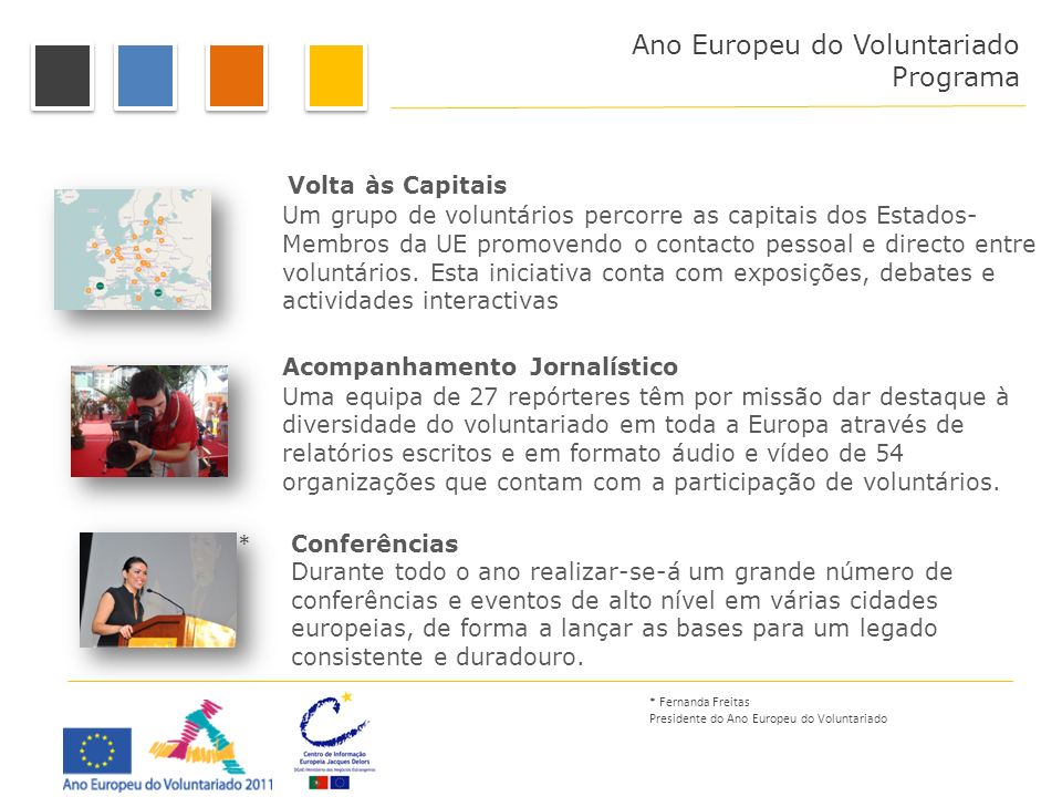 Programa Ano Europeu do Voluntariado Programa Volta às Capitais *