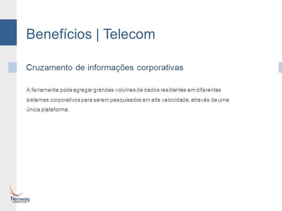 Benefícios | Telecom Cruzamento de informações corporativas